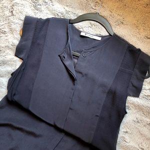T by Alexander wang silk paneled shirt dress
